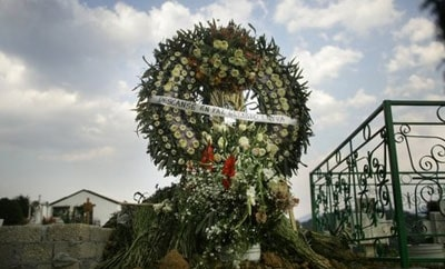 Mexican funeral wreath