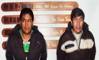 A Peruvian police agent and companion arrested for smuggling cocaine in chocolate