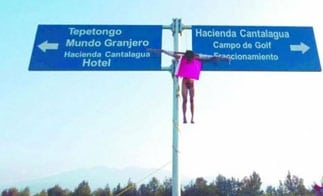 An alleged rapist crucified in Michoacan
