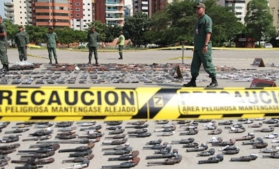 Arms seized by the Venezuelan government