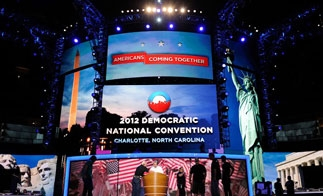The Democratic National Convention in Charlotte, North Carolina