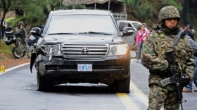US diplomatic vehicle attacked by Mexico Federal Police