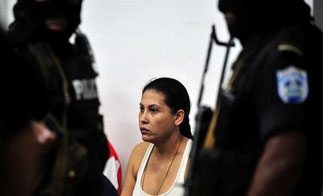 One of the accused fake Televisa journalists in a Nicaragua courtroom