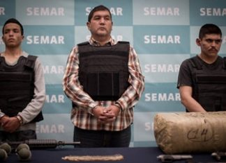 "Ivan Velazquez Caballero, alias ""El Taliban"" (center)"