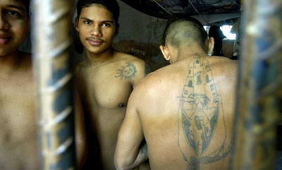 Prisoners in a Mexican jail