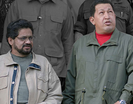 Ivan Marquez with Hugo Chavez in 2007