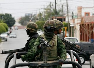Mexican soldiers in Reynosa