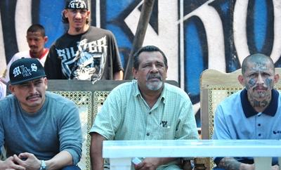 Raul Mijango with MS-13 members