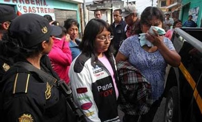 Female members of a Guatemalan extortion ring
