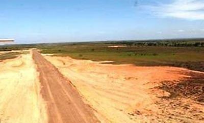 An illegal landing strip in Catamarca, Argentina