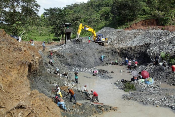 An illegal mine in Choco province