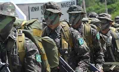 Members of the Brazilian military