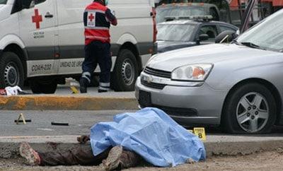 Homicide scene in Mexico