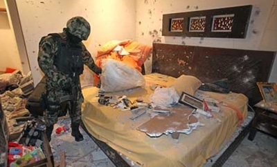Arturo Beltran Leyva's apartment after deadly shootout in 2009