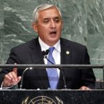 Guatemalan President Otto Perez addressing UN General Assembly