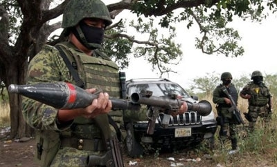 Rcoket launcher seized in Mexico March, 2012