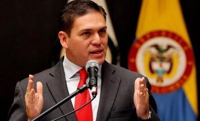 Colombian Defense Minister Juan Carlos Pinzon