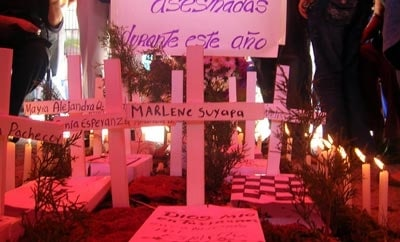An anti-femicide demonstration in Guatemala