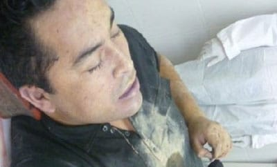 The alleged body of Heriberto Lazcano