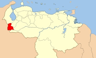 Venezuela's Tachira state, on the Colombian border