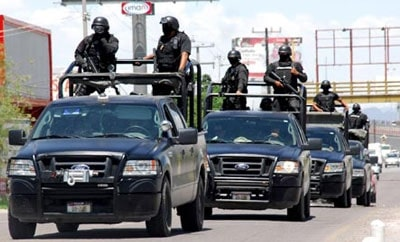 Federal agents in Torreon, Mexico
