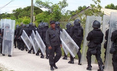 Belize police in training