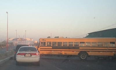 Road block set up by suspected gangs in Reynosa