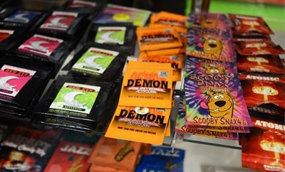 A display of synthetic marijuana