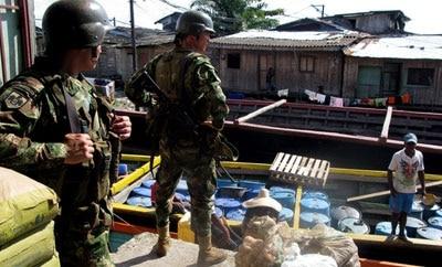 Colombian military in Buenaventura, Valle del Cauca