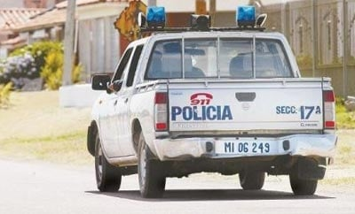 A police vehicle on patrol in Uruguay