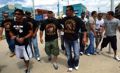 Members of the Comanchero Motorcycle Club