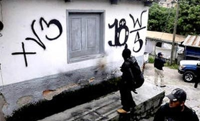 Gang graffiti in Honduras
