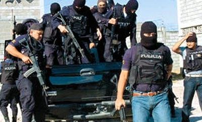 Honduran police in Tegucigalpa