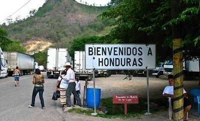 The Guatemala-Honduras border