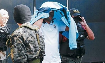 A suspect arrested in Honduras drug bust