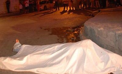Homicide scene in Caracas
