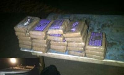 A police snapshot of the cocaine haul