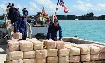 Narcotics seized by the US Coast Guard under Operation Martillo