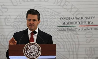 President Enrique Peña Nieto laying out security plan