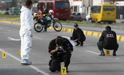 Homicide scene in Bogota