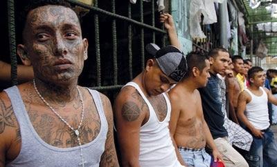 Jailed Barrio 18 members