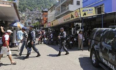 Police in a Rio de Janeiro barrio