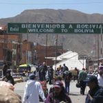 Bolivia-Peru border crossing at Desaguadero
