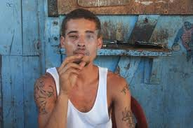 Gang member in Belize City