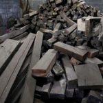 A seized granadillo shipment in Nicaragua