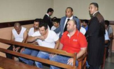 Some of the detainees in a Santo Domingo court