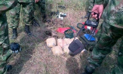 The marijuana seized on a Colombian army plane