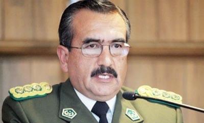 Bolivia's new chief of police, Alberto Jorge Aracena Martinez