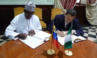 Venezuela and Nigeria signed an anti-drug treaty last year