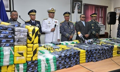 Some of the 1.8 tons of cocaine seized, January 2013